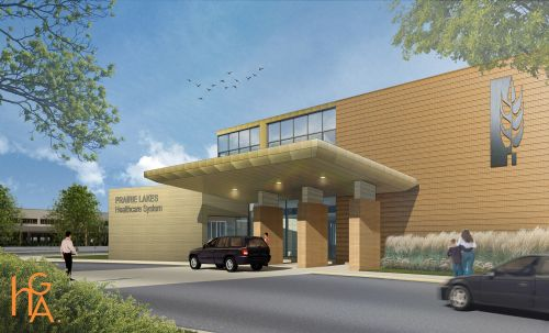 Future Entrance of the Prairie Lakes Specialty Clinic