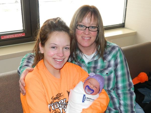 Baby Raelynne, mother Corey and grandmother Cindy Jaeger.