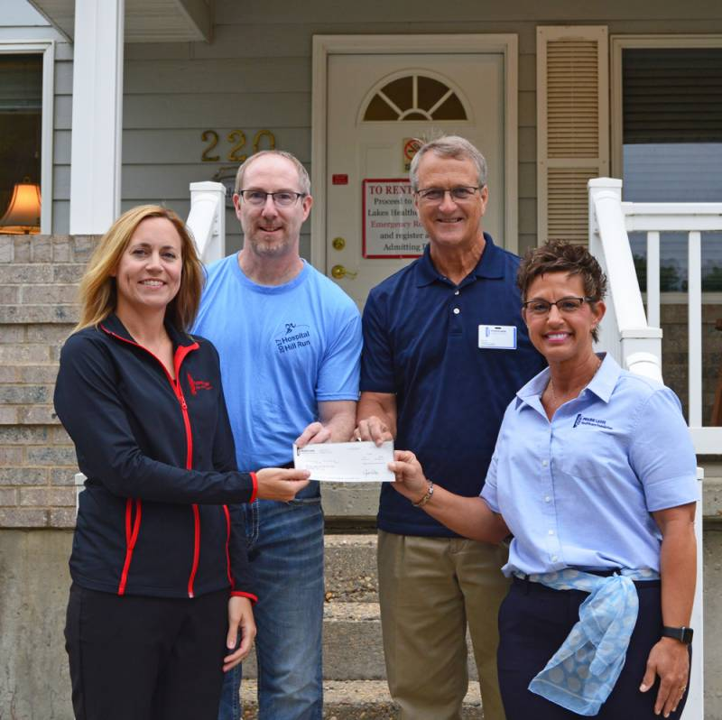 Hospital Hill Run Makes Donation