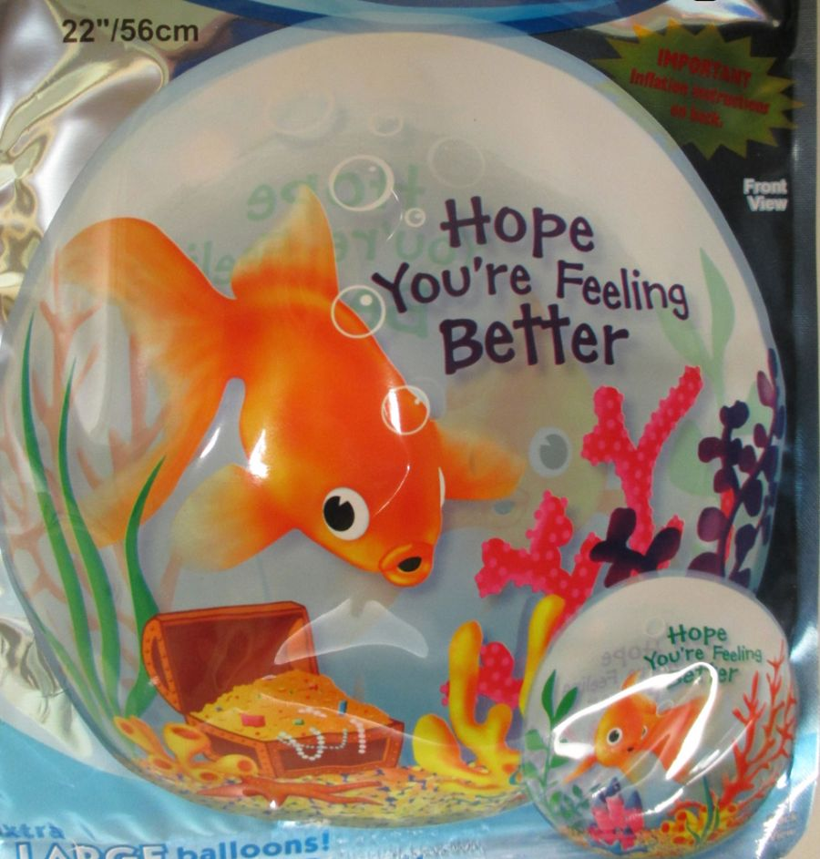 Hope Youre Feeling Better Fish Balloon
