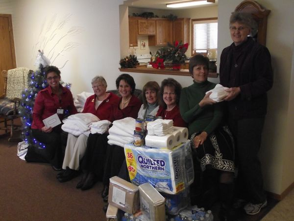 PEO Provides Donations to the Caring Club House